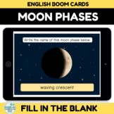 Moon Phases Boom Cards for Distance Learning
