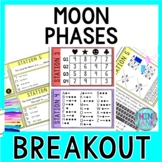 Moon Phases Breakout Activity - Task Cards Puzzle Challenge