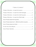 Earth Science - Moon Phases Worksheets Bundle