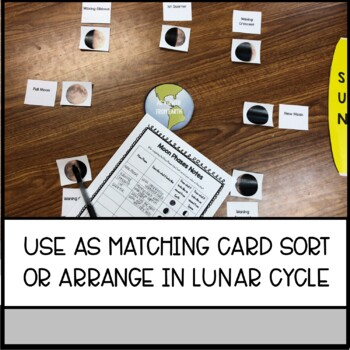 Moon Phases Card Sort: An Interactive Review of the Lunar Cycle