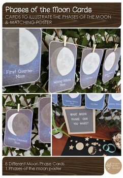 Moon Phases Cards and Poster