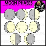Moon Phases Clip Art Bundle {Educlips Clipart}