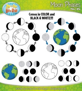 Moon Phases Clipart {Zip-A-Dee-Doo-Dah Designs}