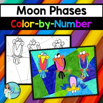 Moon Phases Color-by-Number