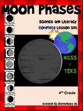 Moon Phases:Complete Lesson Set Bundle (TEKS & NGSS) 4th Grade