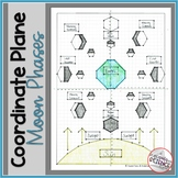 Moon Phases Coordinate Plane Mystery Picture