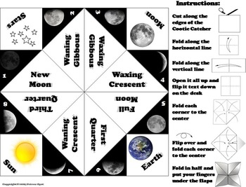 The Moon Phases Foldable (Space Science/ Astronomy Unit)