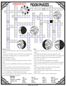 Moon Phases Crossword