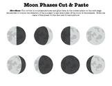 Moon Phases Cut & Paste