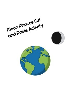 Moon Phases Cut and Paste Activity