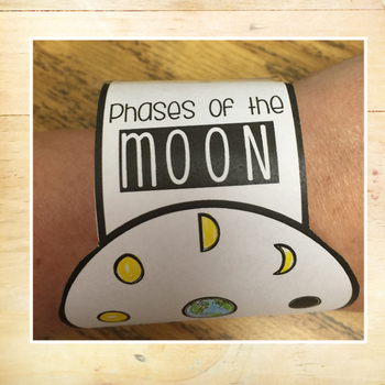 Moon Phases - Differentiated Reading Bracelets