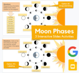 Moon Phases - Drag-and-drop, labeling activity in Slides  