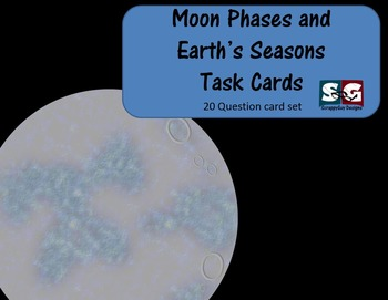 Moon Phases- Earth's Seasons Science Task Cards