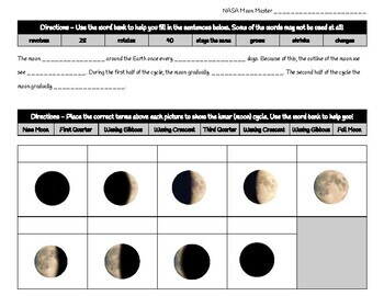 Moon Phases Exit Ticket