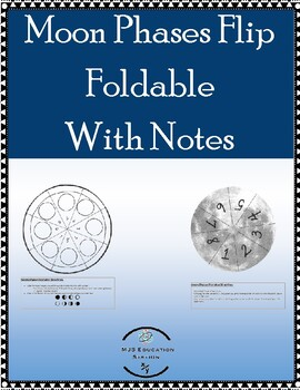 Moon Phases Flip foldable with Notes