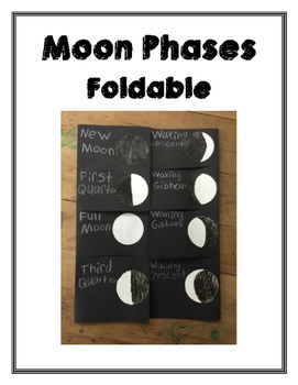 Moon Phases Foldable