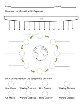 Moon Phases Graphic Organizer