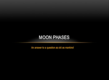 Moon Phases- Graphic Organizer Explaining Lunar Phases: Full Moon, New Moon