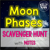 Moon Phases Scavenger Hunt Activity {Content focused!}