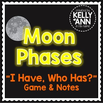 Moon Phases - I Have Who Has Review Game