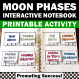 Phases of the Moon, Lunar Cycle, Moon Phases Interactive Notebook