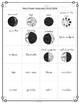 Moon Phases Interactive Vocabulary Cards Match Game