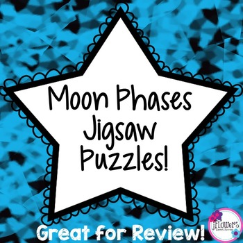 Moon Phases Jigsaw Puzzles Great for Review
