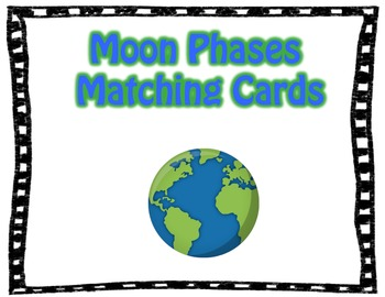 Moon Phases Matching Cards