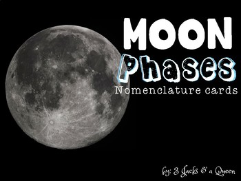 Moon Phases Nomenclature cards