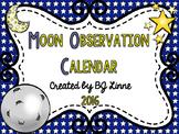 Moon Phases Observation Calendar