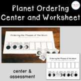 Moon Phases Ordering Center and Cut and Paste