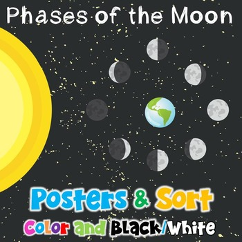 Moon Phases - Posters and Sorting Cards