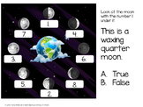 Science: Moon Phases PowerPoint Quiz & Quick Writes Assessment Made Easy