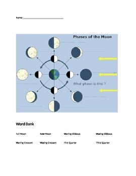 Worksheet Phases Of Moon Quiz moon phases quiz by aimee kostukovich teachers pay quiz