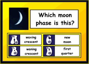 Moon Phases Review with Voting SMART Notebook Lesson