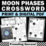 Moon Phases Crossword Puzzle Science Distance Learning Packet Digital Printable