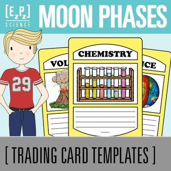 Moon Phases Science Trading Cards