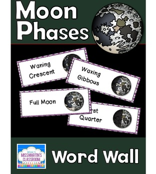 Moon Phases: Science Vocabulary Word Wall