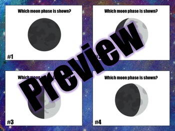 Moon Phases, Seasons and Eclipses Task Cards
