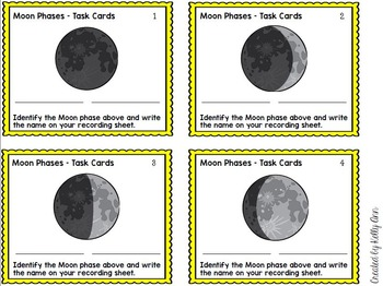 Moon Phases Review Task Cards