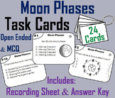 Moon Phases Task Cards Activity (Space Science/ Astronomy Unit - Lunar Cycle)