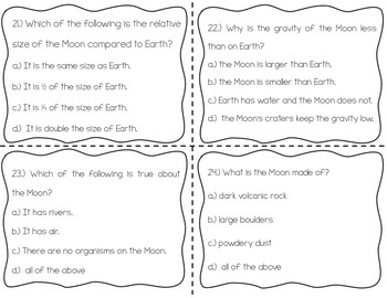 Moon Phases Task Cards {Scoot}