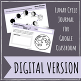 Moon Phases & The Lunar Cycle Digital Journal for  Distanc