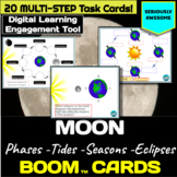 Moon Phases, Tides, Eclipses and Seasons Digital Task Card