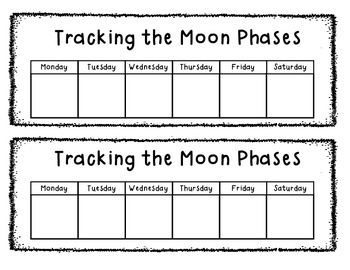 Moon Phases Tracking Sheet
