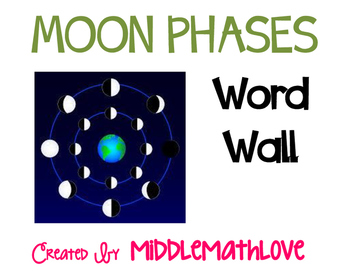 Moon Phases Word Wall (Earth Science)