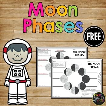 Moon Phases Worksheet FREEBIE