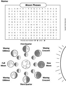 moon phases science worksheets moon best free printable worksheets. Black Bedroom Furniture Sets. Home Design Ideas