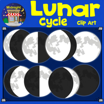 Moon Phases and Lunar Cycle Clip Art