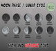 Moon Phases and Lunar Cycle Clip Art Set {Messare Clips an